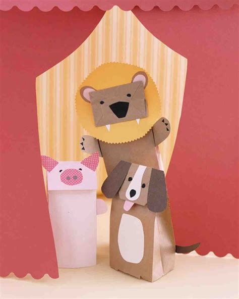 Paper Bag Puppet Craft - paper bag animal puppets pictures photos and images for