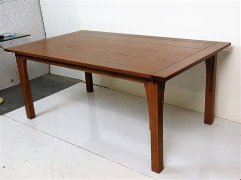 stickley dining room table stickley oak slatted top dining table for sale at 1stdibs