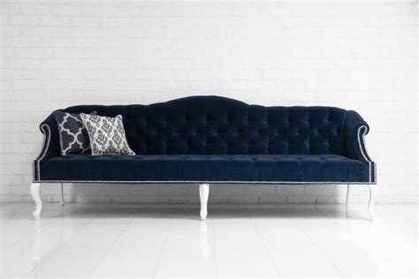 Navy Couches by Mademoiselle Sofa Navy Velvet Sofas By