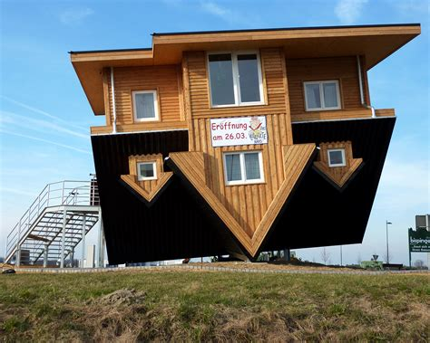 house build the amazing house in germany that is upside down
