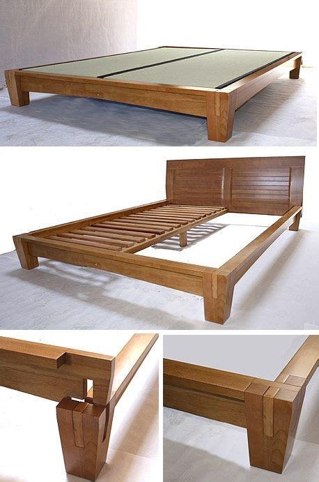woodworking projects bed frame yamaguchi platform bed frame honey oak by tatamiroom