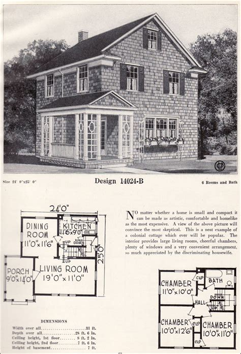 1923 modern side entry colonial revival vintage