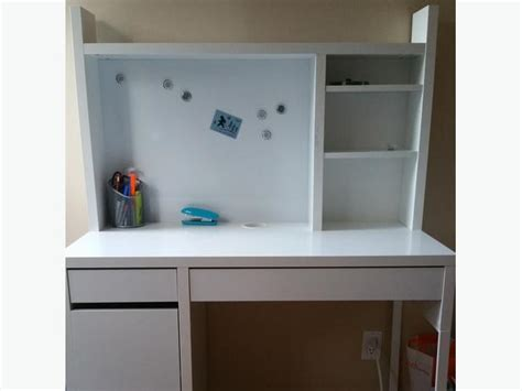 desk white with add on shelves and storage chair