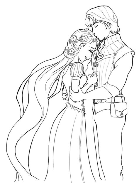printable disney wedding coloring pages rapunzel wedding coloring papges rapunzel is very happy
