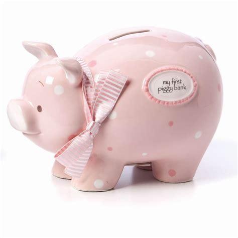 pig piggy bank large gift ceramic derlook large pink pig piggy bank piggy bank