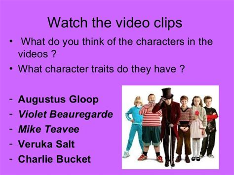 and the chocolate factory character traits