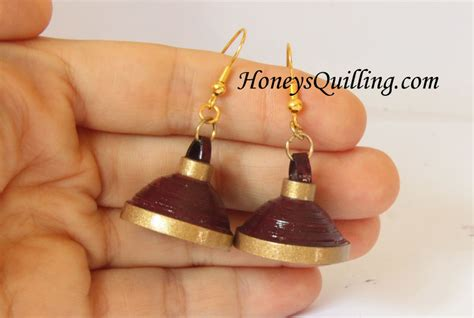 How To Make Jhumka Earrings With Paper - tutorial how to make paper quilled jhumka umbrella