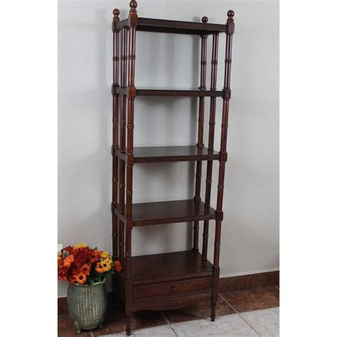 5 tier bookshelf in walnut zm 3802 st