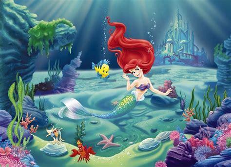 komar wallpaper disney wall mural photo wallpaper ariel the little mermaid kids