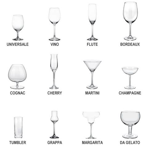 Different Bar Glassware Best 25 Types Of Glasses Ideas On