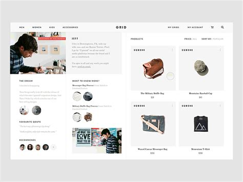 product layout grid grid designer of the month interaction by vivek ravin
