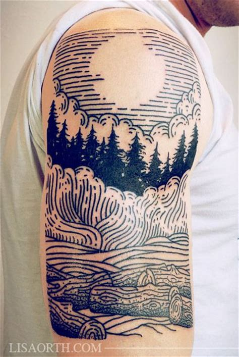 into the woods tattoo 32 stunning scenic designs