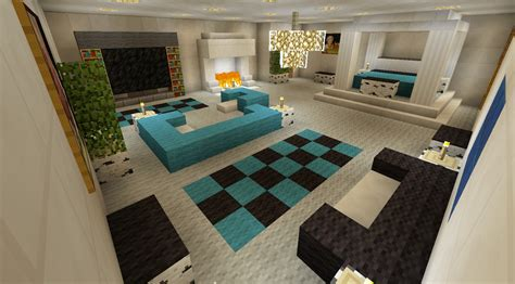 minecraft bedroom furniture minecraft bedroom with living area furniture and canopy bed and fireplace minecraft creations