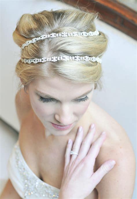 how to wrap wedding hair rhinestone hair wrap wedding accessories by tessa kim