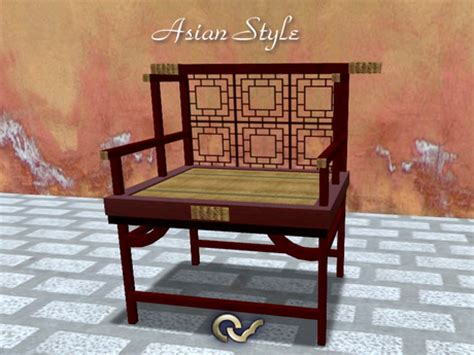 style guide asian furniture gallery second life marketplace armchair or bench asian style