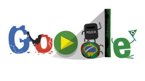 doodle independência do brasil doodle que mostra lado obscuro da copa do mundo circula