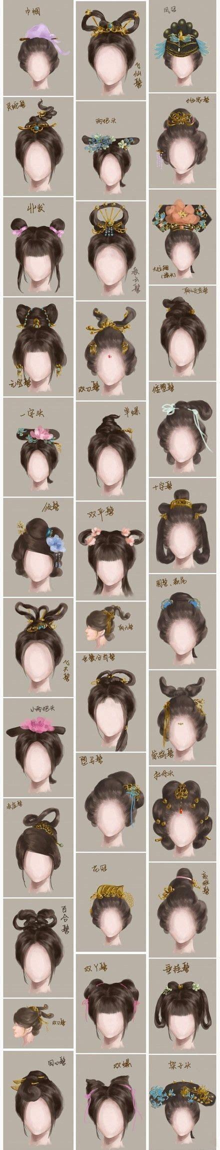 hairstyles history timeline 古代发髻