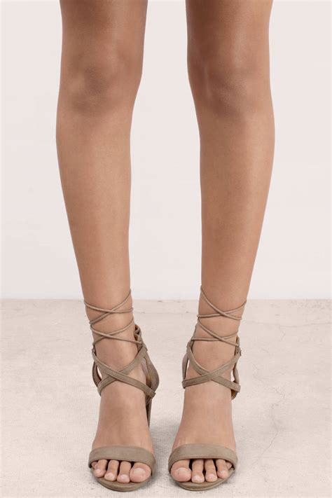 taupe color heels taupe heels beige heels lace up heels 70 00