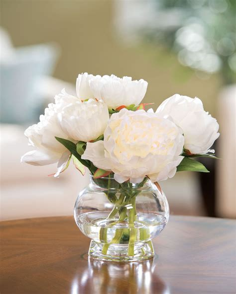 Fake Water For Vase Capture Permanent Garden Beauty With Peony Silk Flower