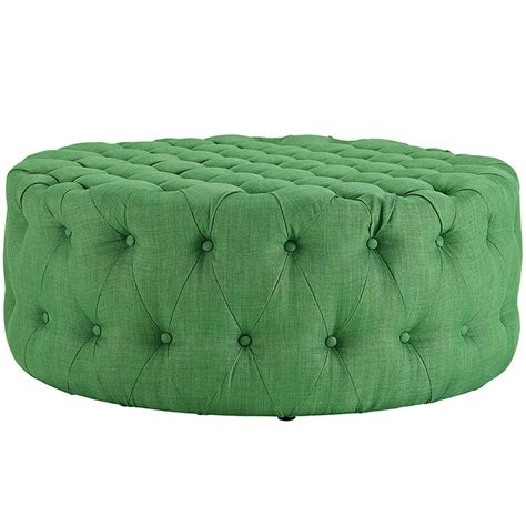 round green ottoman round tufted fabric ottoman modern furniture brickell