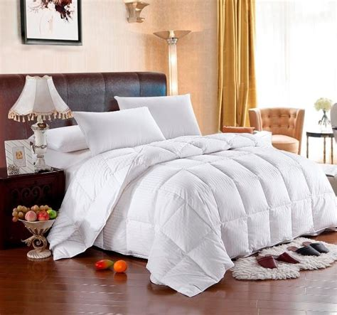 king cotton comforter striped goose down comforter 100 egyptian cotton full