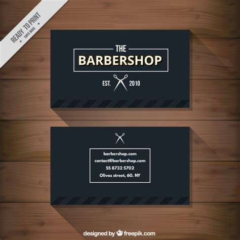 Free Barbershop Business Card Templates by Black Barbershop Business Card Vector Premium