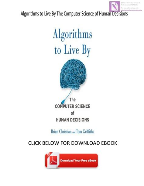 0007547994 algorithms to live by the download ebook algorithms to live by the computer science