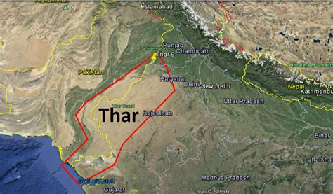 thar desert location thar desert map pixshark com images galleries with