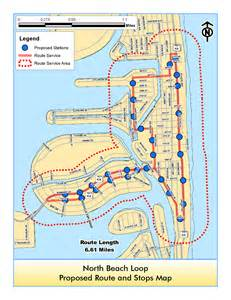 Miami Trolley Map by Free North Beach Trolley Service Miami On The Cheap
