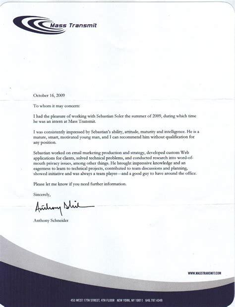professional recommendation letter program format