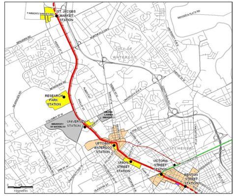 kitchener transit routes waterloo region light rail project