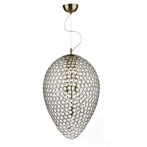 large drop ceiling pendant tear drop antique brass