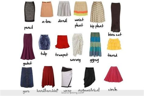 the skirt vocabulary different types of skirt styles