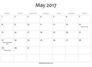 may template 2017 may calendar in word printable monthly calendar 2017