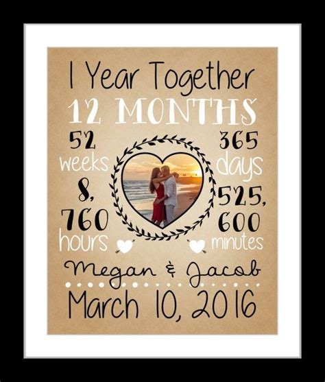 1 year anniversary ideas dating 1000 ideas about dating anniversary gifts on