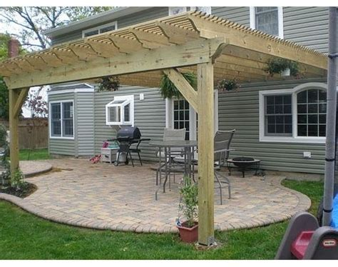 How To Build A Pergola Attached To House Attaching Pergola To House