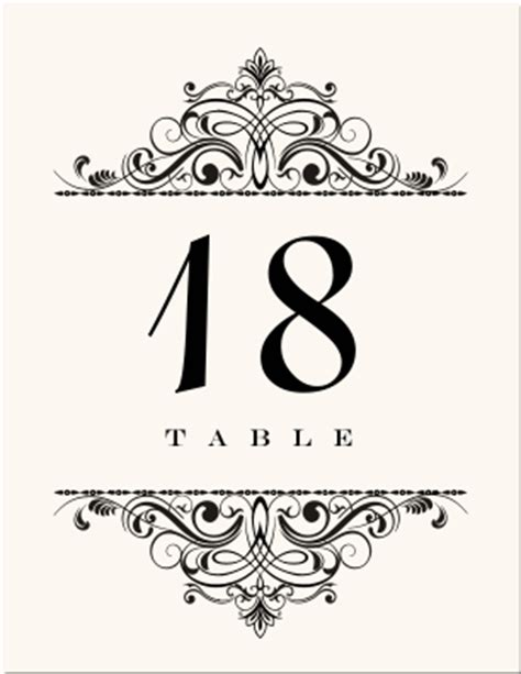 Vintage Table Numbers Template Wedding Table Numbers Vintage Table Number Designs Vintage Table Cards Vintage Wedding Logos