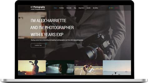 templates for photographers lt photography onepage joomla template