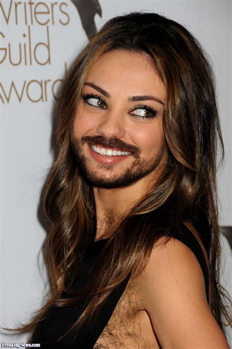 hair vegine pic mila kunis with a beard pictures freaking news