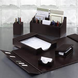 Desk Blotter Set Bomber Jacket Desk Set Six Pieces Leather Desk