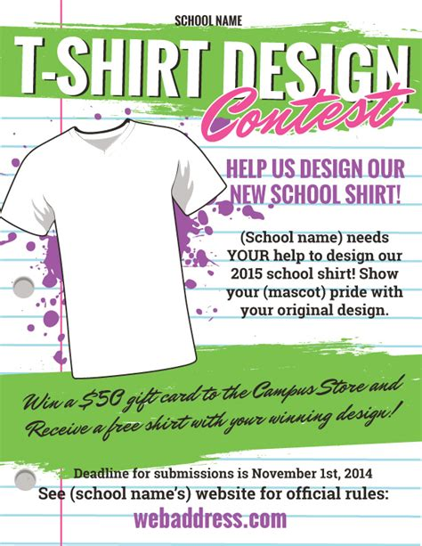 Design Contest Template T Shirt Design Contest Maketing Flyers Inksoft Inksoft