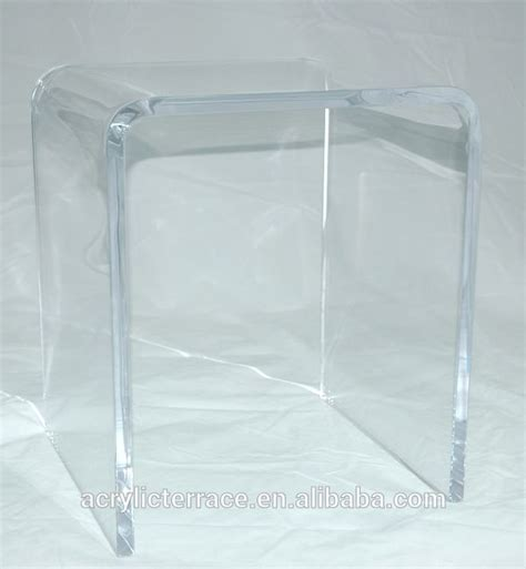 acrylic shower bench 3 4 quot thick clear acrylic shower bench or stool buy