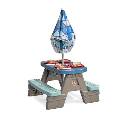 2 picnic table with umbrella picnic play table with umbrella picnic table step2