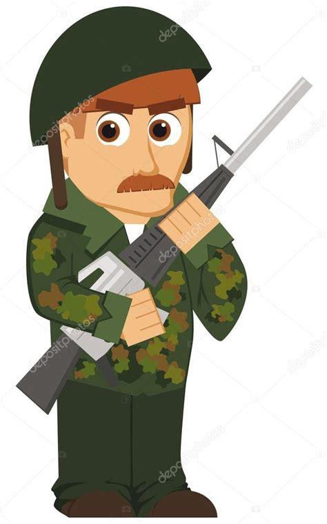 imagenes animadas de amor de soldados soldado de dibujos animados aislados vector de stock