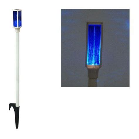 light up driveway markers solar led blue driveway marker stake light by alpine 21