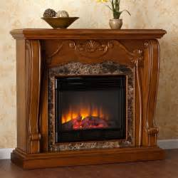 Walnut Electric Fireplace by Sandro Walnut Electric Fireplace