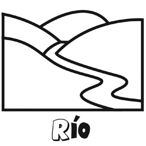 Imagenes De Rios Faciles Para Dibujar   dibujo para imprimir y colorear de un r 237 o dibujos para
