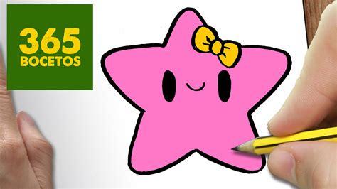 imagenes de estrellas kawaii como dibujar estrella kawaii paso a paso dibujos kawaii
