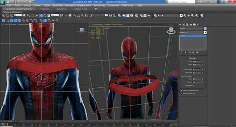 Imagenes En 3d Max | amazing spiderman modelado de personaje en 3ds max arte