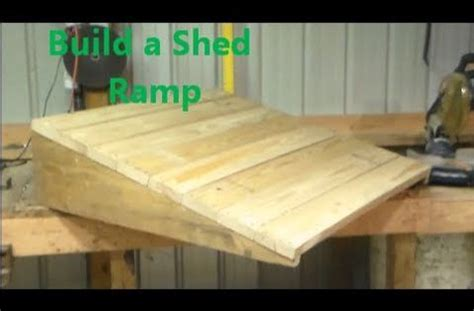 build  shed ramp youtube  mini projects